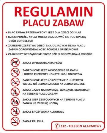 tablica z regulaminem placu zabaw.1